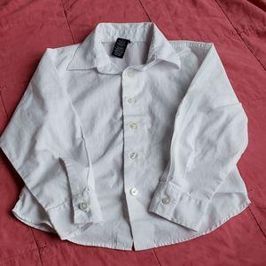 Boys Nautica white button down dress shirt